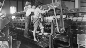 The lack of labor laws during the Industrial Revolution resulted in many children working in horrible unsafe conditions.